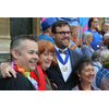 Cllr James Wright with the Lord Mayor of Norwich and Pride chair Andy Footer
