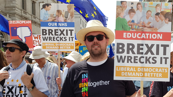 James Wright at the #PeoplesVoteMarch